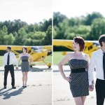 Erin & Tyler's Virginia Love Session Pictures at an Airport Hanger