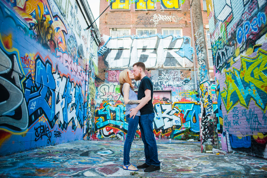 alternative grunge Maryland graffiti engagement pictures (12)