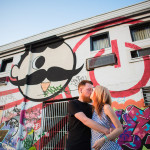 Jess & Joe's Tattoed, Graffiti Engagement Pictures in Maryland