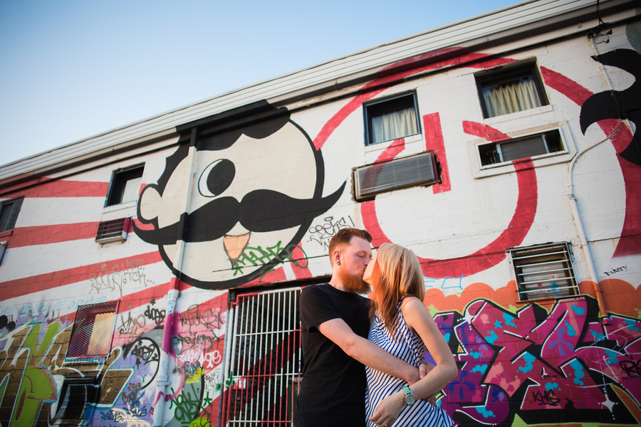 alternative grunge Maryland graffiti engagement pictures (9)
