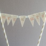 DIY Cake Topper Tutorial Series: How to Make a Mini Bunting Topper