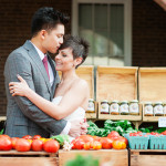 Steph & Jeff's Farmer's Market Portraits & Virginia Brunch Wedding