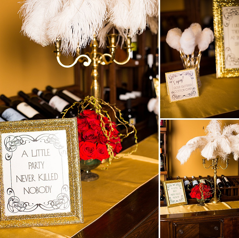 glitter gold 1920s speakeasy themed wedding (14)