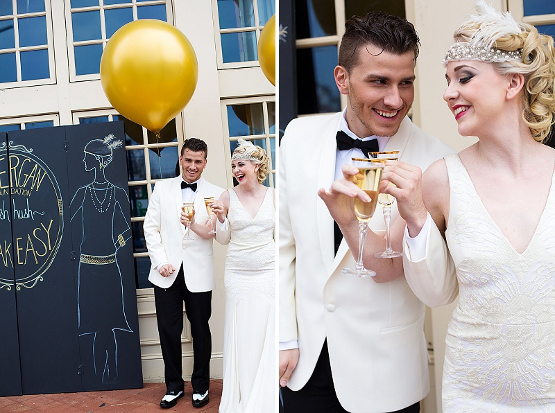 glitter gold 1920s speakeasy themed wedding (8)