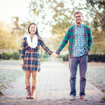 Grace & Kyle's Laid-Back, Plaid Filled Engagement Pictures in Williamsburg, VA