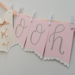 "DIY Tutorial: How to Make a ""Ooh La La"" Lingerie Shower Garland"