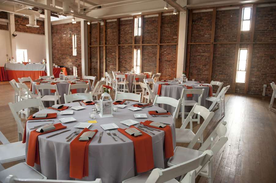 modern gray orange baltimore maryland wedding american visionary arts museum (10)