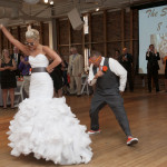 Kimie & Mario's Modern, Grey & Orange Wedding at American Visionary Arts Museum