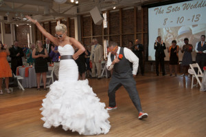 modern gray orange baltimore maryland wedding american visionary arts museum (19)