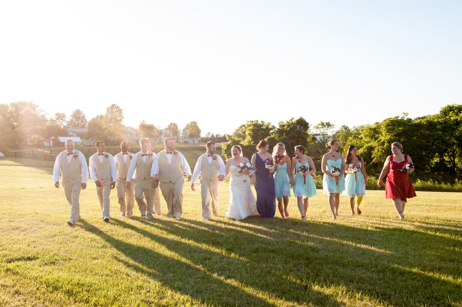 rustic DIY red white blue Virginia wedding (12)