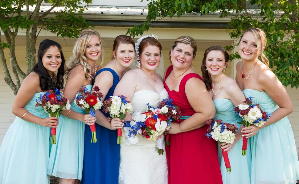 rustic DIY red white blue Virginia wedding (9)