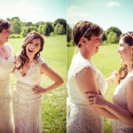 Becky & Bonnie's Rustic, DIY Maryland Wedding at Agricultural History Farm Park
