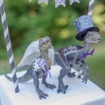 DIY Tutorial: How to Make a Wedding Appropriate Dinosaur Cake Topper