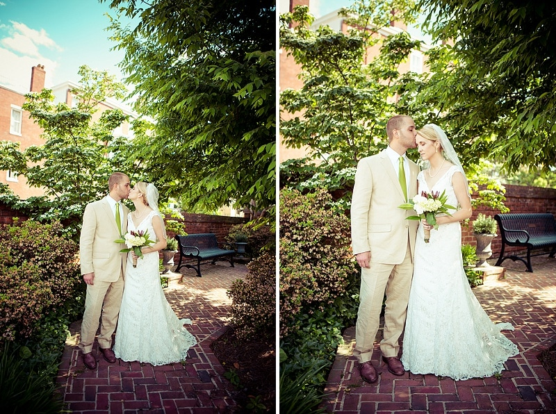 simple modern green Virginia Inn wedding (11)