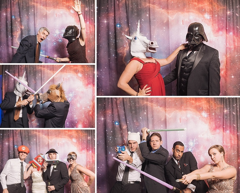 star wars space themed wedding photobooth