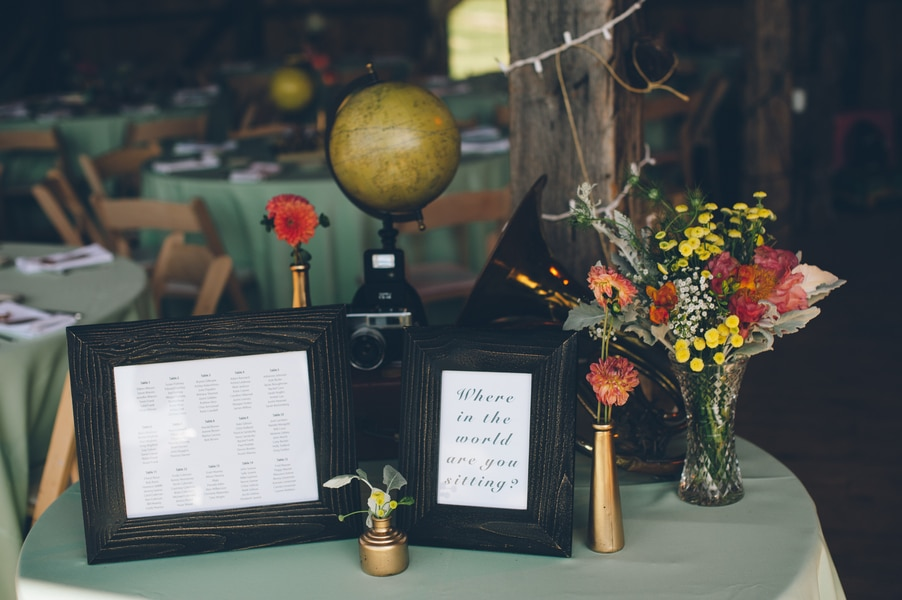 thrift store travel themed barn wedding virginia pictures (23)