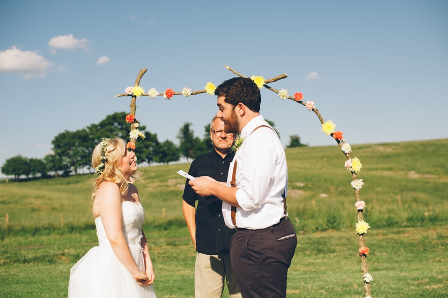 thrift store travel themed barn wedding virginia pictures (3)