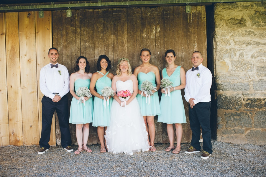 thrift store travel themed barn wedding virginia pictures (6)