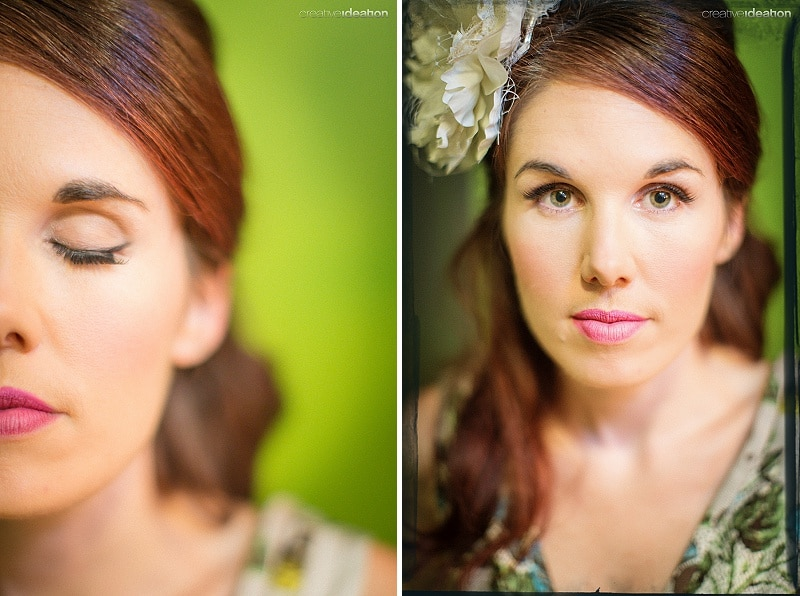 vintage bridesmaid makeup hair inspiration (3)