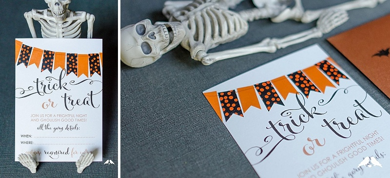 let us know if you use our diy tutorial to make these adorable halloween party printables notecards thanks so much to ribbons bluebirds for yet another - Homemade Halloween Party Invitations