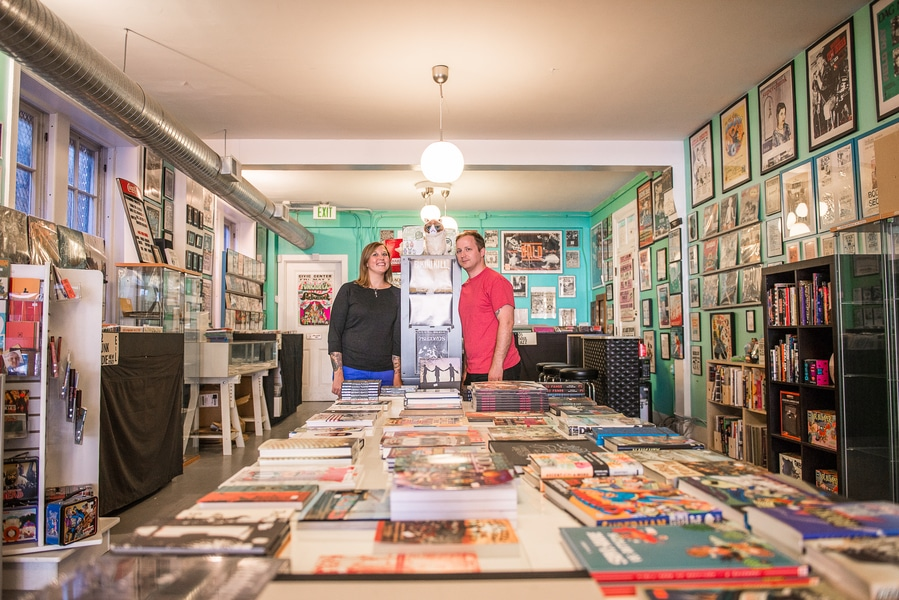 baltimore MD record store engagement pictures (1)