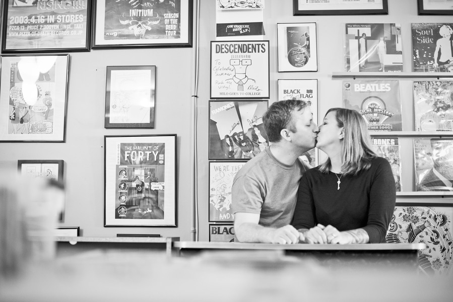 baltimore MD record store engagement pictures (2)