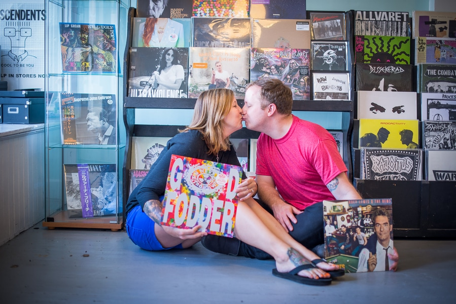 baltimore MD record store engagement pictures (3)