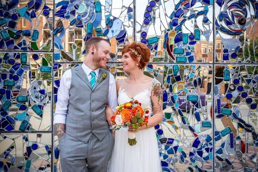 offbeat alternative maryland wedding pictures american visionary arts museum (11)