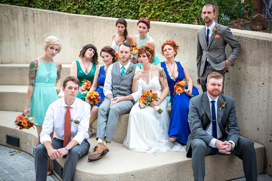 offbeat alternative maryland wedding pictures american visionary arts museum (7)