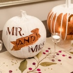 DIY Tutorial: Wedding Appropriate Carved Pumpkin Table Numbers