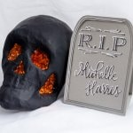 DIY Tutorial: How to Make Halloween Tombstone Place Cards