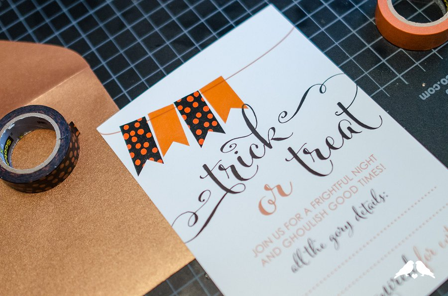 DIY Tutorial: How to Make DIY Halloween Party Invites with Washi ...