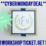 Cyber Monday Deal: BOGO DIY Watercolor Workshop Tickets – TODAY ONLY!