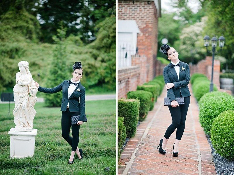 black white same sex goth wedding pictures (4)
