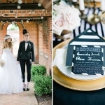 Capitol Inspiration: Bold, Striped, Black White & Gold Wedding Inspiration