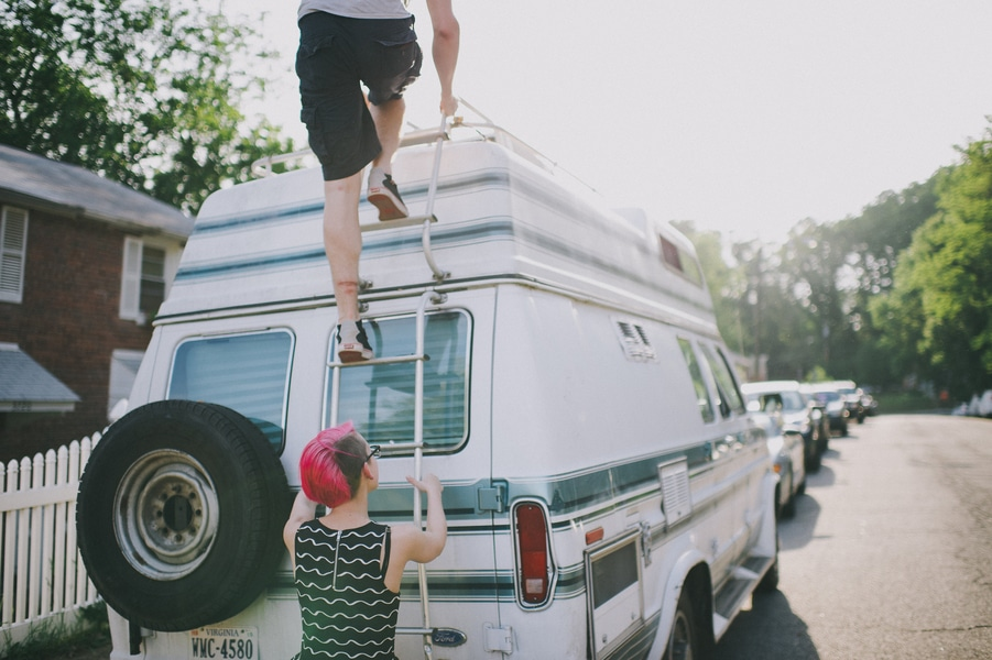 offbeat alternative engagement pictures vintage trailer (7)