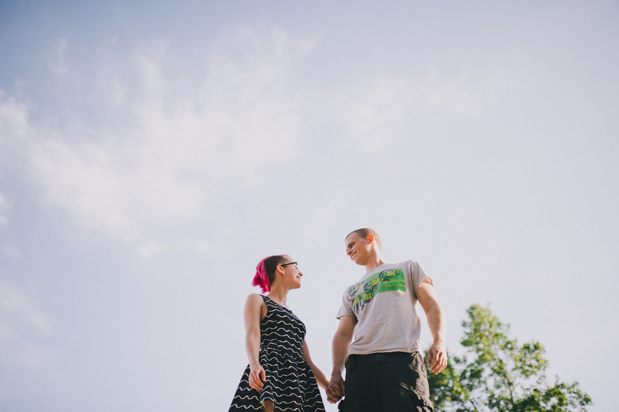 offbeat alternative engagement pictures vintage trailer (9)