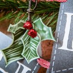 DIY Tutorial: How to Make Paper Holly & Mistletoe Holiday Decorations
