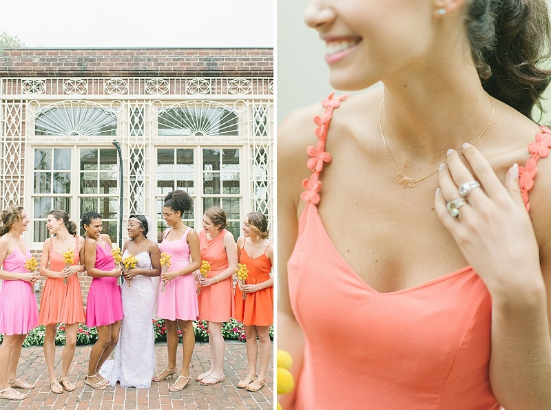 bright pink orange yellow DIY Maryland wedding (1)