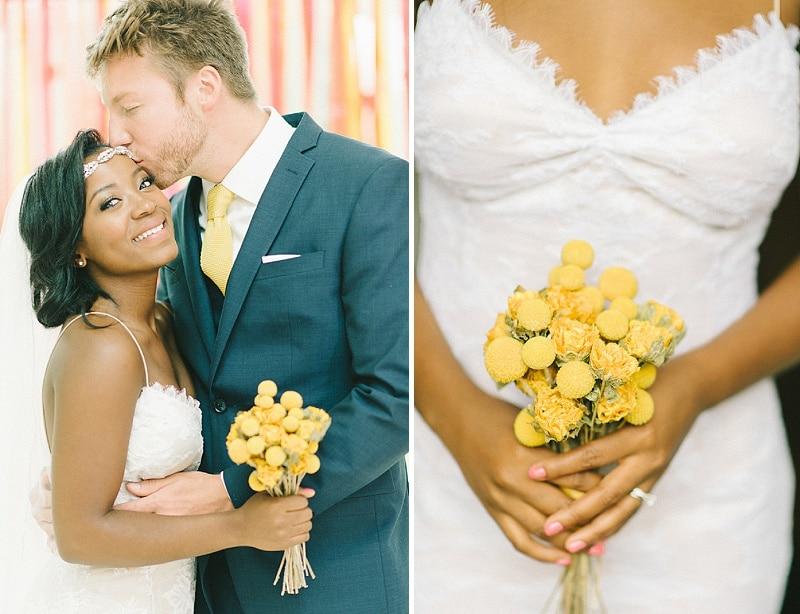 bright pink orange yellow DIY Maryland wedding (5)