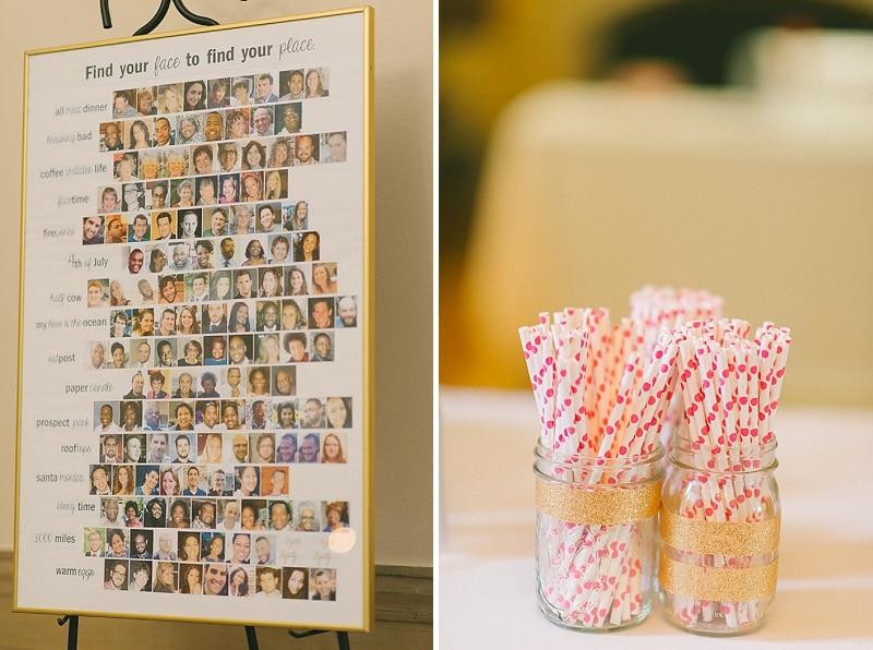 bright pink orange yellow DIY Maryland wedding (6)