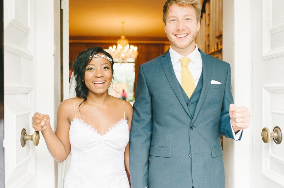 bright pink orange yellow DIY Maryland wedding (9)
