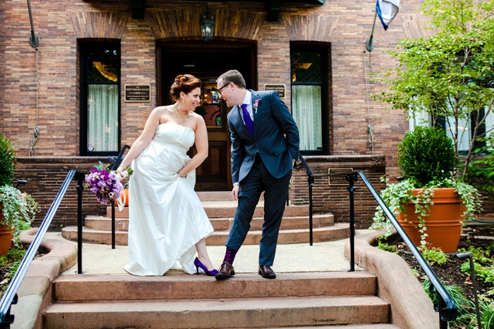 modern purple Jewish wedding Washington DC (18)