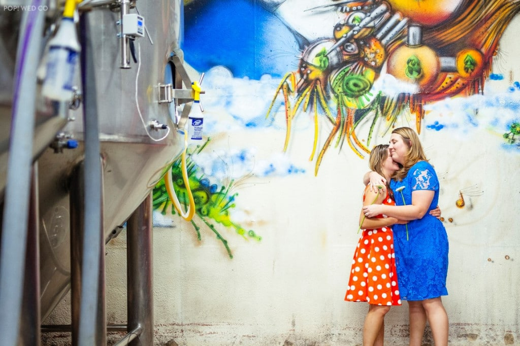 offbeat intimate washington dc wedding at brewery (10)