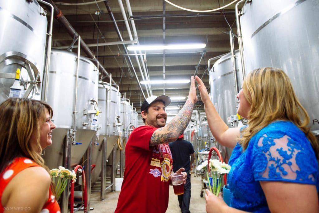 offbeat intimate washington dc wedding at brewery (18)