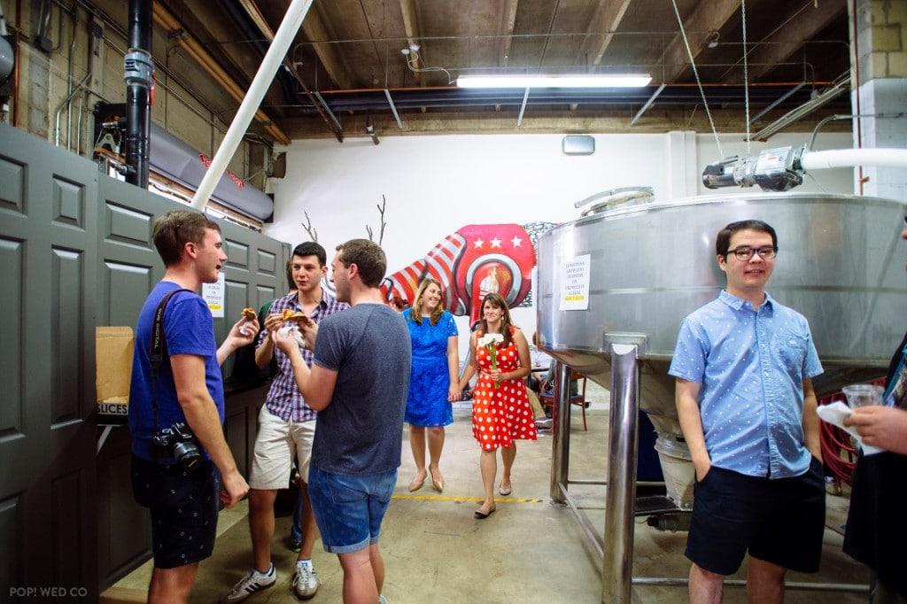 offbeat intimate washington dc wedding at brewery (2)