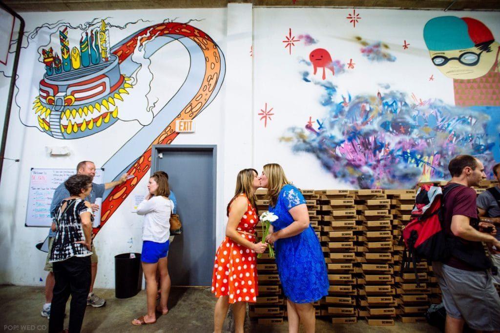 offbeat intimate washington dc wedding at brewery (25)