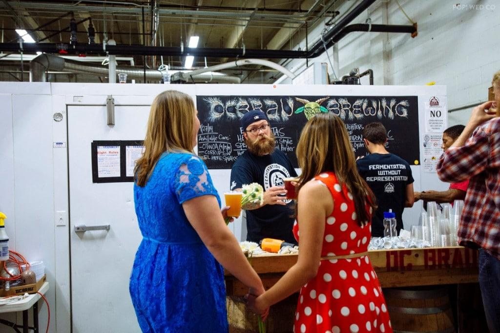 offbeat intimate washington dc wedding at brewery (26)