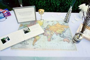 Noel Guestbook table Punam Bean Photography