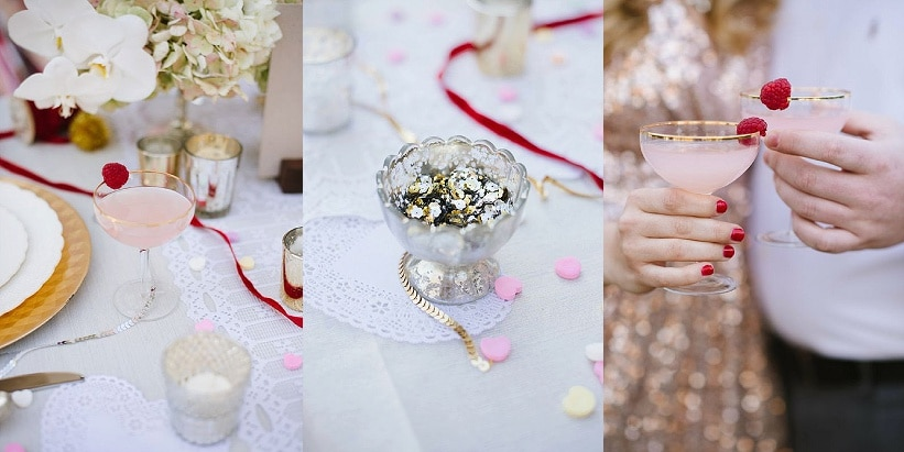 modern glitter gold red valentines day wedding pictures (3)